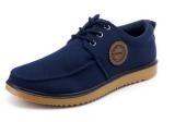 Lace-up Man Shoes Canvas Men′s Shoes Plain Design Male Shoes