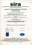 ISO9001:2008 Certificate for Butterfly Valve