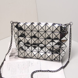 5X8 Mirror Rhombic Geometric PU Folding Crossbody Bag Shoulder Bag