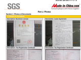 SGS sertification of yibao company