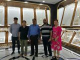 Pakistan Customers visit our tiles showroom
