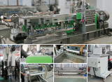 Twin Screw Extruder Recycling Pelletizing Machine for PET flakes