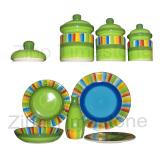 Stoneware Hand-Painted Dinnerware(616050)