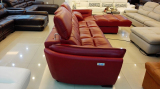Electric Genuine Leather Recliner Sofa In Showroom