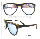 Classic men wooden sunglasses in acetate material