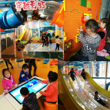 Children play in HUAXIA indoor playground