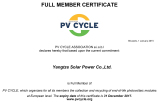 Solar Panel PV Cycle Certificate