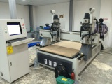 2 HEADS CNC ROUTER 6KW HSD SPINDLE
