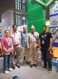 with dubai customer in shanghai cycle fair
