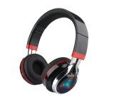 Stereo Bluetooth V3.0 headset with LED light rhythm support FM radio, TF card funtion