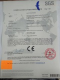 CE CERTIFICATE OF MACHINERY AND LOW VOLTAGE DIRECTIVES