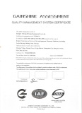 ISO9001:2008 Quality Management Certificate