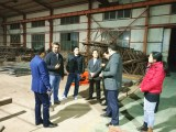 India Client Come to Visit Tavol Tower Cranes Factory
