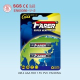 Chinese Battery Manufacture 1.5V Farer Super Heavy Duty Dry Battery (R03 AAA, Um-4)