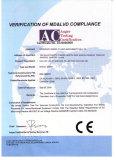 CE Certificate (BOV Filler for Shave Gel)