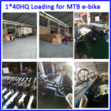1*40 HQ electric bike is ready to export