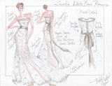 Custom Wedding Evening Party Prom Celebrity Dresses Gowns From Sketch