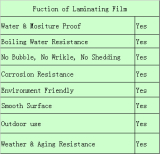 function of laminating film
