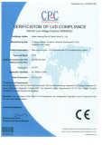 CE of EU Lower voltage Directive 2006/95/EC