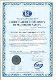Certificate Of Conformity Of Machinery Safety