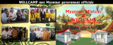Wellcamp folding container villa house became highlight in Myanmar exhibition