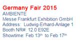 Exhibition in Frantfurt Germany