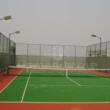 Tennis court on roof