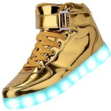 Gold LED Wearing Leather led light up shoes