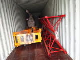 Packing Mobile Foldable Tower Crane In Container