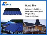 Galvanized Steel Sheet Corrugated Stone Coated Metal Bond Roof Tile