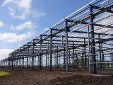 steel structue building prefabricated warehouse with crane