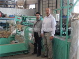 Papua New Guinea customer visited our factory to see full automatic chain link fence machine.