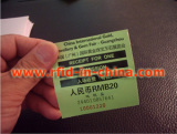 Smart RFID Label with barcode and serial number
