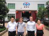 General manager,Janet with the customers in Heijingang