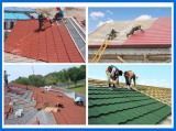 0.4mm Thickness Stone Coated Metal Roofing Tiles