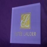 Estee Lauder Brand of Acrylic block