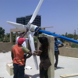 1KW wind turbine off grid system installed in Senegal