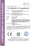 LVD Certificate of Beam & Spot Head Light