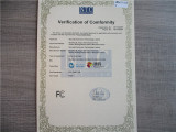 FCC certificate of LED light
