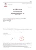 France Ship Certificate BV