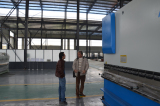 Cyprus Clients checking 6000MM Long shear machine and Press brake