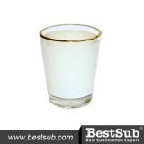 BestSub 1.5oz Shot Glass Mug with Gold Rim