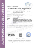 Rohs Certificate of Beam & Spot Head Light