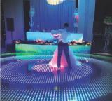 LED dance floor used in wedding