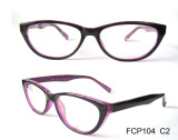 Purple color oval shape eyeglasses frame
