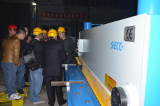 CLIENT FROM SAUDI ARABIA CHECKING THE SHEAR MACHINE AND PRESS BRAKE