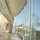 laminated glass for spider supporting glass wall project in Brazil