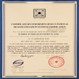 CERTIFICATE OF CONFORMITY OF OCCUPATIONAL HEALTH AND SAFETY SYSTEM CERTIFICATION