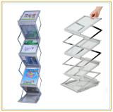 Foldable A4 Magazine Display Rack/Zig-Zag Leaflet Stand