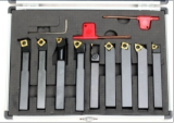 New 9PC Indexable Lathe Turning Tool Set